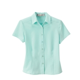 Women's s Poly Stretch Woven Shirt Star Light Blue Thumbnail