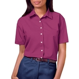 Women's Short Sleeve Easy Care Poplin Shirt Berry Thumbnail