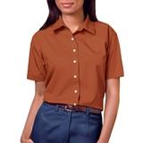 Women's Short Sleeve Easy Care Poplin Shirt Burnt Orange Thumbnail
