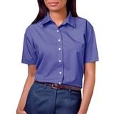 Women's Short Sleeve Easy Care Poplin Shirt French Blue Thumbnail