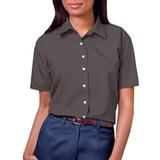 Women's Short Sleeve Easy Care Poplin Shirt Graphite Thumbnail
