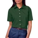 Women's Short Sleeve Easy Care Poplin Shirt Hunter Thumbnail