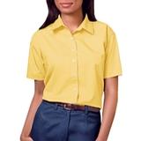 Women's Short Sleeve Easy Care Poplin Shirt Maize Thumbnail