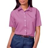 Women's Short Sleeve Easy Care Poplin Shirt Mulberry Thumbnail