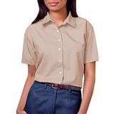 Women's Short Sleeve Easy Care Poplin Shirt Natural Thumbnail