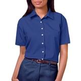 Women's Short Sleeve Easy Care Poplin Shirt Royal Thumbnail