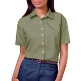 Women's Short Sleeve Easy Care Poplin Shirt Sage Thumbnail