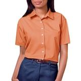 Women's Short Sleeve Easy Care Poplin Shirt Salmon Thumbnail