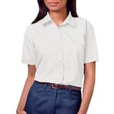 Women's Short Sleeve Easy Care Poplin Shirt White Thumbnail