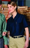 Women's Short Sleeve Industrial Work Shirt Thumbnail