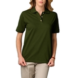 Women's Short Sleeve Pique Polo Shirt Hunter Thumbnail