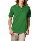 Women's Short Sleeve Pique Polo Shirt Kelly Thumbnail