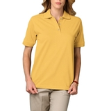 Women's Short Sleeve Pique Polo Shirt Maize Thumbnail