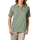 Women's Short Sleeve Pique Polo Shirt Sage Thumbnail