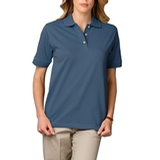 Women's Short Sleeve Pique Polo Shirt Slate Blue Thumbnail