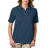 Women's Short Sleeve Pique Polo Shirt Teal Thumbnail