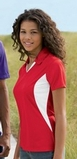 Women's Side Blocked Micropique Polo Shirt Thumbnail