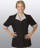 Women's Spun Polyester Tunic Black Thumbnail