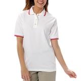 Women's Tipped Collar Cuff Pique Polo Shirt Thumbnail