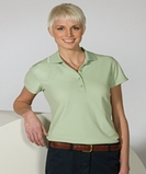 Women's Tipped Collar Dry-mesh Hi-proformance Polo Navy Thumbnail