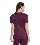 Women's Uflex V-Neck Tunic Wine Thumbnail