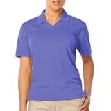 Women's V-neck Pique Polo Shirt French Blue Thumbnail