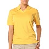 Women's V-neck Pique Polo Shirt Maize Thumbnail