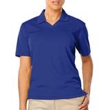 Women's V-neck Pique Polo Shirt Royal Thumbnail