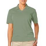 Women's V-neck Pique Polo Shirt Sage Thumbnail