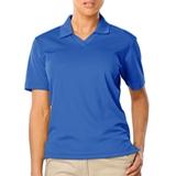 Women's V-neck Pique Polo Shirt Turquoise Thumbnail