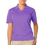 Women's V-neck Pique Polo Shirt Violet Thumbnail
