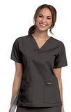Women's V-neck Scrub Top BLACK (BKP) Thumbnail