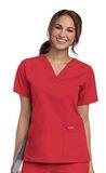 Women's V-neck Scrub Top TRUE RED (TRP) Thumbnail