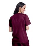 Women's V-Neck Tunic Wine Thumbnail