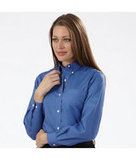 Women's Van Heusen Pinpoint Shirt Steel Blue Thumbnail