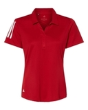 Women's Floating 3-Stripes Sport Shirt Team Power Red with White Thumbnail