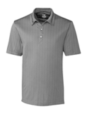 Cutter & Buck Men's DryTec Hamden Jacquard Polo Shirt Elemental Gray Thumbnail