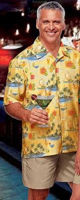 Tropical Print Poplin Camp Shirts Main Image