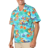 Tropical Print Poplin Camp Shirts Main Image