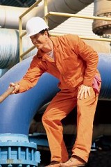 Twill Action Back Coverall With No Chest Pocket Main Image