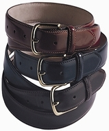 Unisex Leather Dress Belt Main Image