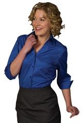 V-neck 3/4 Sleeve Tailored Blouse Main Image