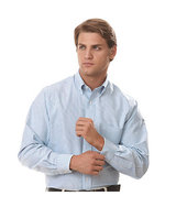 Van Heusen Men's Striped Oxford Shirt Main Image