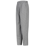 Baggy Checkered Chef Pant With Drawcord Elastic Waistband Main Image