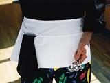 Waist Apron With 3-division Pocket Restaurant Uniform Main Image