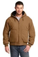 Washed Duck Cloth Insulated Hooded Work Jacket Main Image