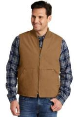 Washed Duck Cloth Vest Main Image