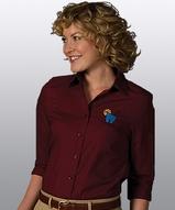 Women's 3/4 Sleeve Poplin Shirt Main Image