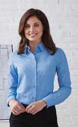 Women's Align Wrinkle Resistant Cotton Blend Dobby Vertical Striped Shirt Main Image