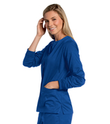 Women's All Day Snap Front Warm Up Scrub Jacket Main Image